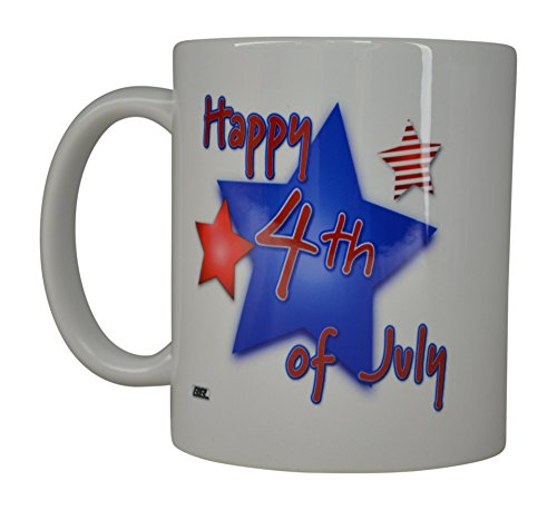 (Best Coffee Mug Happy 4th of July American Patriot Novelty Cup Great Gift Idea For Women Men Military)