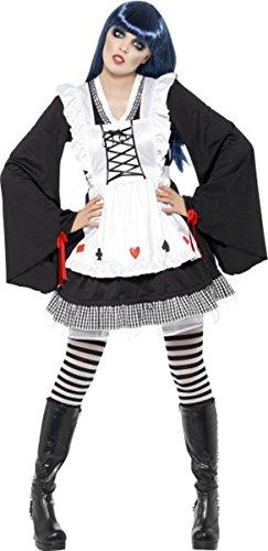 [Ladies Halloween Fancy Dress Femalewonderland Gothic Alice Costume Med] (Alice In Wonderland Halloween Costumes Ebay)