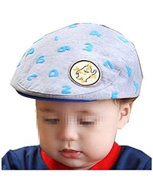 Kids Baby Beret Cap Flat Cap Baseball Hat Warm Peaked Cute Cap