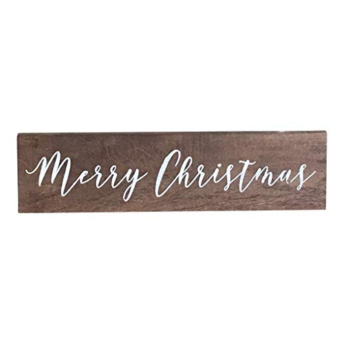 - New2UDesign Wooden Merry Christmas Sign