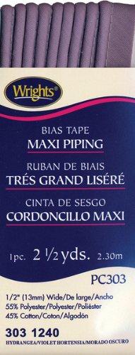 Wrights Bias Tape Maxi Piping 303 1240 Hydrangea 2.5 yards