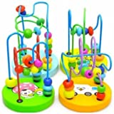 Toys & Gifts - Baby Wooden Toy Mini Around Beads Wire Maze Educational Game Bauble - Baby Wooden Maze Toys Toy Blocks Tricycle Play Gym Hair Brush Highchair Bed Buttons - For 1 Year Old - 1PCs
