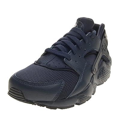 Nike Kids Huarache Run Black/Grey/Blue Running Shoe (7)