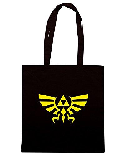T-Shirtshock - Bolsa para la compra TGAM0091 Zelda Triforce Negro