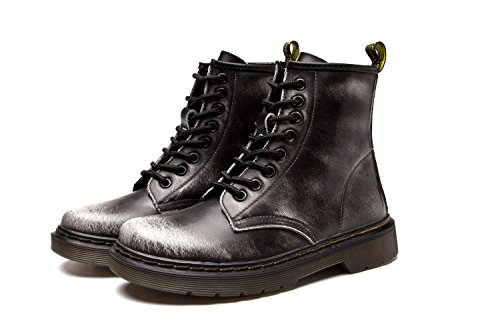 Lady Boots Boots Boot Waterproof Leather Men's Martin Boots Grey Winter rSf5gwqrFx