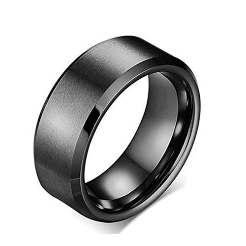 Action Pro Titanium Stainless Steel Matte Finish Collection Cool Ring for Unisex (Black 7) (B07JV8QCVR) Amazon Price History, Amazon Price Tracker