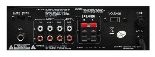 Home Audio Power Amplifier System - 2x120w Mini Dual Channel Mixer Surround Sound Stereo Receiver Box W Rca, Aux, Mic Input - For Amplified Speakers, Pa, Cd Player, Theater - Pyle Pta4
