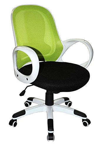 Boraam 97919 Nelson Adjustable Modern Office Chair, Lime Green & Black, One Size by Boraam