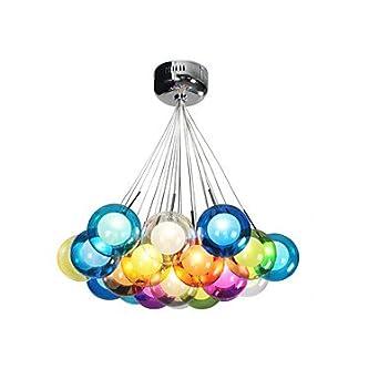 Moderne Erde Bubble Glas Kronleuchter 19 Leuchten , Warm White