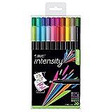 BIC Intensity Fineliner, 0.4mm, Assorted Colors