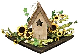 Aged Wood Tray Grungy Texture Candle Floral Display Dish Country Primitive Décor