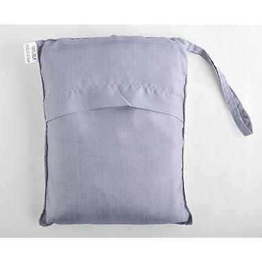 Silver 100% Pure Mulberry Silk Single Sleeping Bag Liner Travel Sheet Sleepsack 83 x33