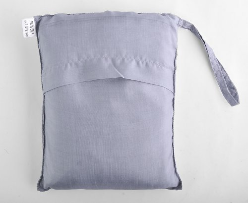 Silver 100% Pure Mulberry Silk Single Sleeping Bag Liner Travel Sheet Sleepsack 83