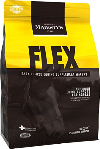Majesty's Flex Wafers Joint Supplement for Horses - 5 Horse Supplements in 1 - Contains Glucosamine and MSM for Horses / Equine - Yucca Extract, Chondroitin Sulfate, and Ascorbic Acid - 60 Day Supply