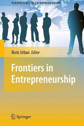 Frontiers in Entrepreneurship (Perspectives in Entrepreneurship)