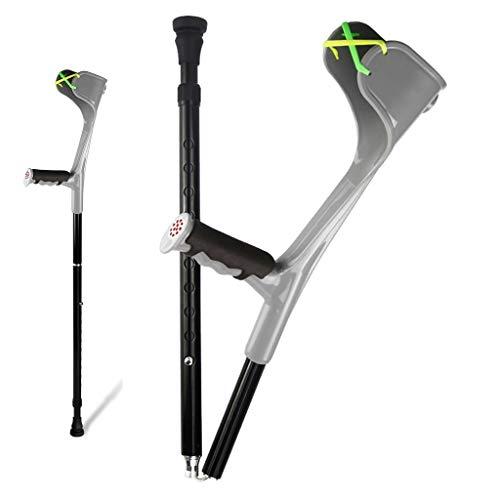 QNDYDB Crutches, Folding Telescopic Portable Crutch, Black Single