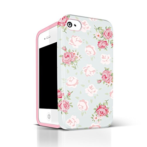 Amazon Iphone 4 Cases For GirlsAkna Glamour Series Flexible TPUHigh ImpactRetro Floral Pattern Soft Back Cover IPhone 4S