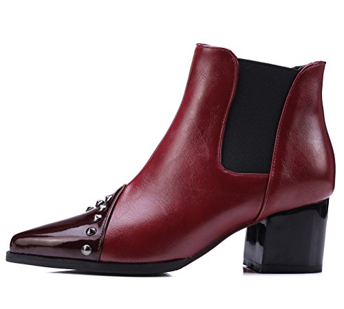 Rouge Red HiTime Chelsea 36 5 Femme Boots qAZ7wP8