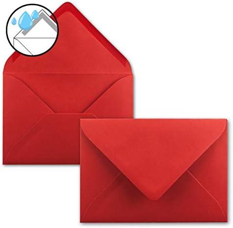 50x Briefumschläge B6-17,5 x 12,5 cm - Naturweiss - Nassklebung mit spitzer Klappe - 120 g/m² - Für Hochzeit, Gruß-Karten, Einladungen