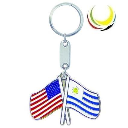 Amazon.com: Keychain USA-URUGUAY FLAGS: Everything Else
