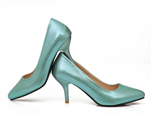 YCMDM Nuovo Tacchi alti donne scarpe da sera essenziali della molla di modo di autunno Oro Argento Blu Rosso 35 36 37 38 39 , blue , 39