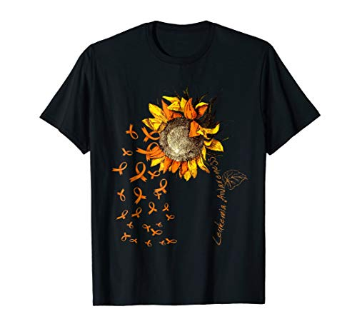 LEUKEMIA Awareness Sunflower T-shirt
