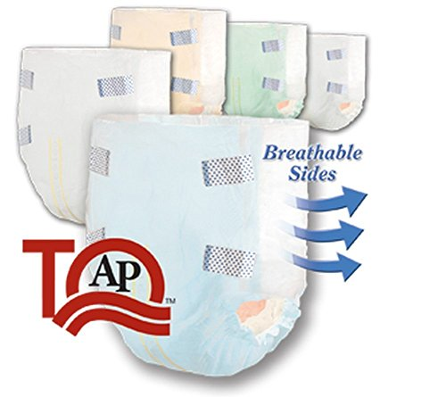 Incontinent Brief Tranquility Slimline Tab Closure X-Small Disposable Heavy Absorbency (#2166, Sold Per Case)