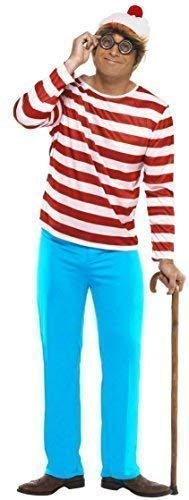 Family Mens Ladies Boys Girls Child's Where's Wally Waldo Wenda Book Day Couples Halloween Party Fancy Dress Costumes Outfits (Small, Mens) ()
