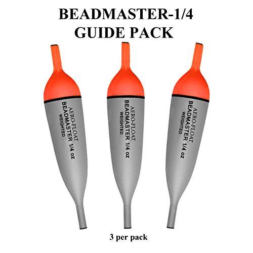 Aerofloat-Beadmaster Steelhead/Salmon Floats-Guide Pack (3 Per Pack) (1/4 OZ)