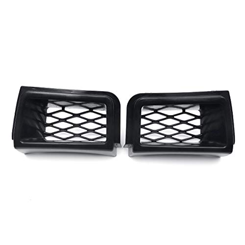 Star-Trade-Inc - 2x For Chevy For Chevrolet Silverado 1500 2003-2007 SS Style Brake Air Flow Hood Duct Car Front Bumper Grille Grill Mesh Cover