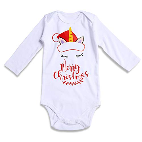 Funnycokid 0-3M Baby Boys Girls One Piece Merry