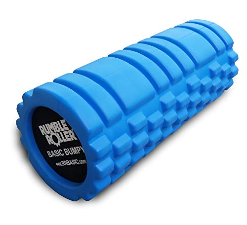 RumbleRoller Basic Bumpy Foam Roller, Solid Core EVA Foam Roller with Grid/Bump...