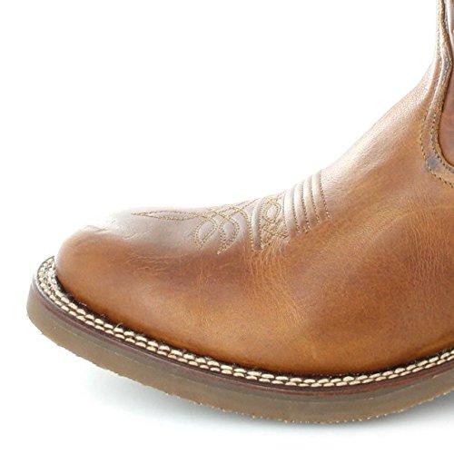 Sendra Stivali 11615 Evoluzione Tang Stivali Di Pelle Per Le Donne E Gli Uomini Marroni Stivali Da Equitazione Occidentali Tang