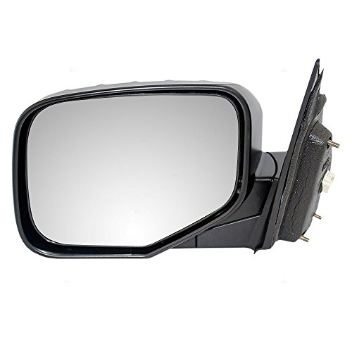 Drivers Power Side View Mirror Textured Replacement for Honda Pickup Truck 76250-SJC-A01ZF