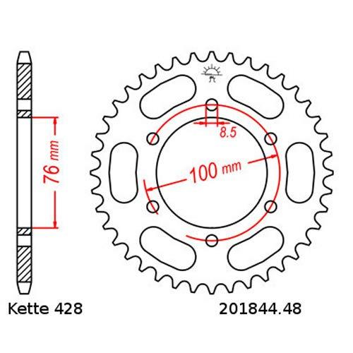 Kettensatz geeignet f/ür Yamaha MT 125 14-18 Kette RK CG 428 SB 132 offen GR/ÜN 14//48