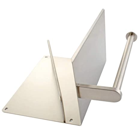 Portarrollos de papel higiénico con revistero aplusee SUS304 acero inoxidable baño dispensador de papel periódico de almacenamiento organizador estante, ...