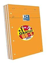 Oxford Scolaire 100107098 Pack de 3 blocs de notas libreta grapada blocs de notas 210 x 315 mm 160 páginas 80 G 5