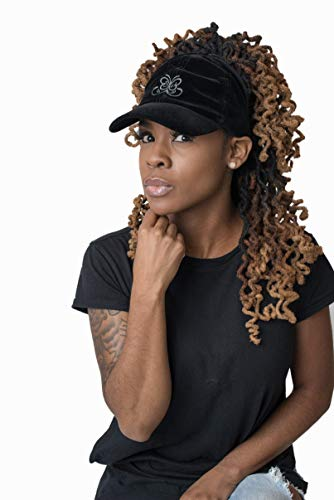 Satin Lined Baseball Hat for Women | Ponytail Half Hair Opening | No Breakage Scrunchie Hat for Curly, Thick, Natural Hair | Natural Hair Baseball Hat in Black … by Beautifully Warm