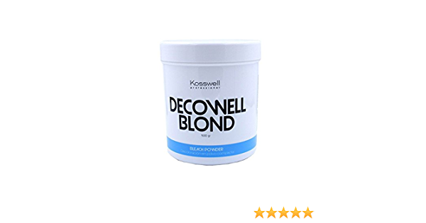 Kosswell Decowell Blond, Decoloración En Polvo Compacta - 500 gr
