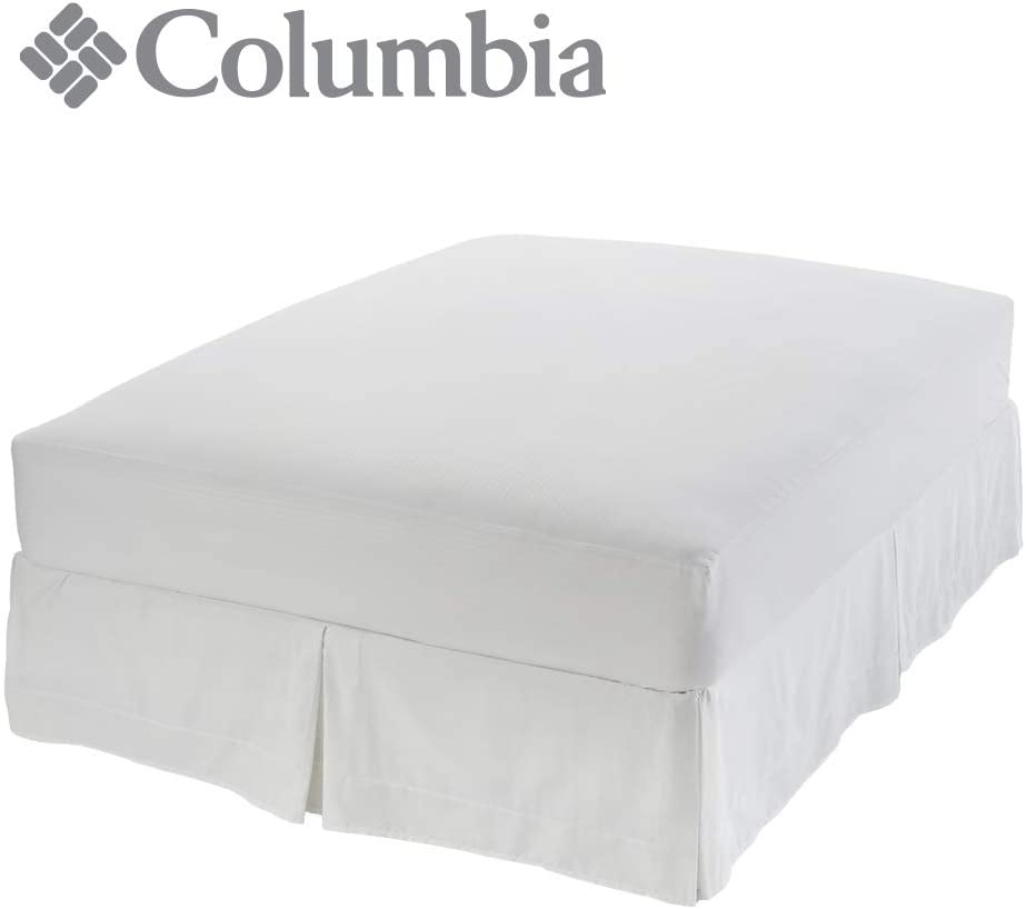 """Columbia Lyocell Ultimate Mattress Protector – Water & Liquid Proof Barrier – Quiet & Breathable Fabric Containing Naturally Cool Lyocell Botanic Fibers – Fits Up to 22"""" Depth - Queen"""