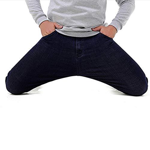 Moyenne Grande Sauvage Homme Jeans Tout Jean Taille Lavé Sfsf B Stretch Poche Couleur Ceinture Loisir Droit Unie Hommes wqIUEY