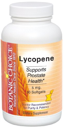 Botanic Choice lycopène Gels mous de 5 mg, 60 Count (pack de 2)