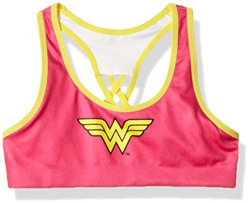 DC Comics/Warner Bros Wonder Woman Girls' Seamless Racer Bra