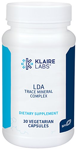 Klaire Labs LDA Trace Mineral Complex - 11 Essential Trace Elements with TRAACS Chelated Minerals, Hypoallergenic & No Iron (30 Vegetarian Capsules)