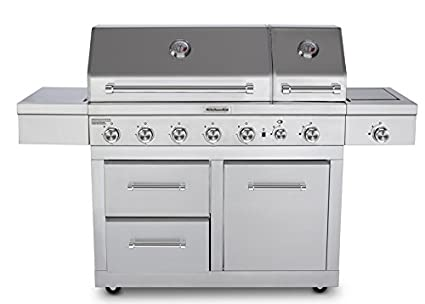 Amazon.com: KitchenAid 720-0826E Propane Gas Grill, Stainless Steel on kenmore gas grill, dcs gas grill, viking gas grill, frigidaire gas grill, costco nexgrill gas grill, hamilton beach gas grill, tailgate gas grill, calphalon gas grill, duro gas grill, jenn-air gas grill, tuscany gas grill, front avenue gas grill, lowe's master forge gas grill, sears gas grill, cuisinart gas grill, weber gas grill, small stainless gas grill, outdoor stainless steel gas grill, coleman gas grill, thermador gas grill,