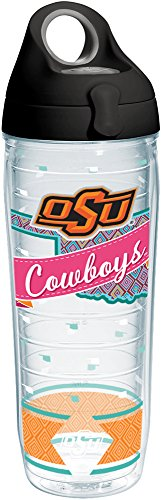 - Tervis 1252199 Oklahoma State Cowboys Collegiate Class Insulated Tumbler with Wrap and Black with Gray Lid 24oz Water Bottle Clear