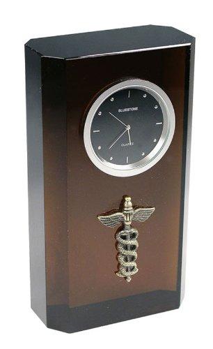61 Caduceous Crystal Clock black (Bluestone Crystal Clock)
