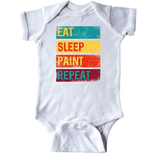 inktastic - Artist Painter Eat Sleep Paint Infant Creeper 6 Months White 33bde