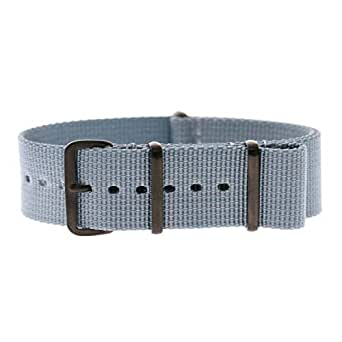 Momentum 24mm PVD Buckle Nato Strap Baby Blue Braided