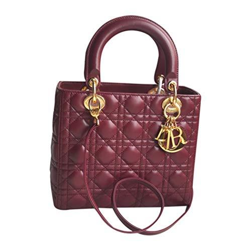 (Womens Mini LANA MARKS Princess Diana Handbag Lady Dior Lambskin Bag)